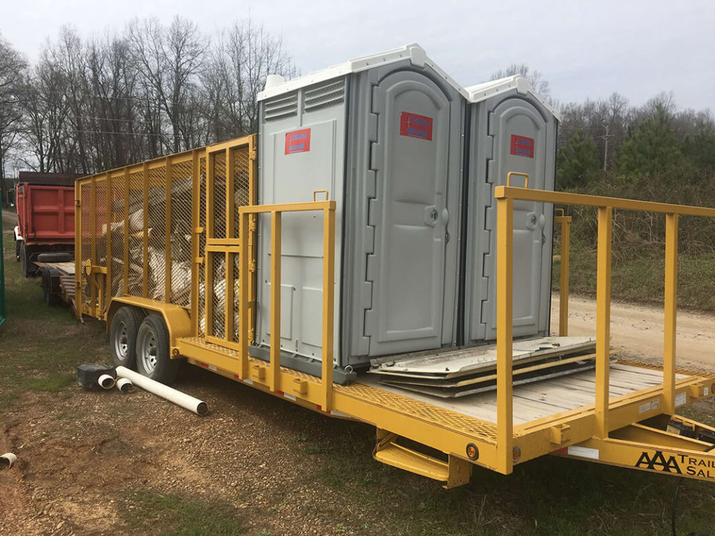 20 Yard Waste Dumpster Containers with Portable Toilets-Fort Myers Waste Dumpster Rentals Services-We Offer Residential and Commercial Dumpster Removal Services, Portable Toilet Services, Dumpster Rentals, Bulk Trash, Demolition Removal, Junk Hauling, Rubbish Removal, Waste Containers, Debris Removal, 20 & 30 Yard Container Rentals, and much more!